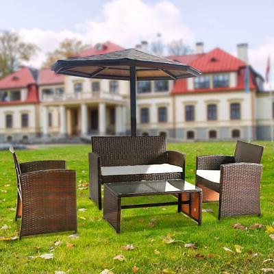 4PCS Outdoor Furniture Set Seating Wicker Chair with Cushion