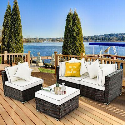 4PCS Rattan Furniture Lawn