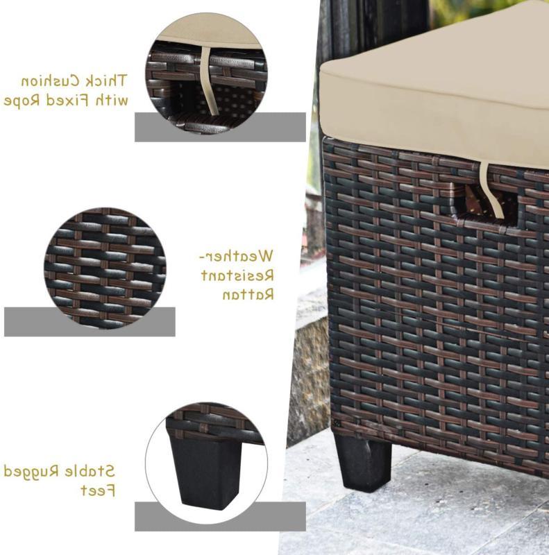 Tangkula 5 Pcs Patio Furniture Set, Set With 6 Se
