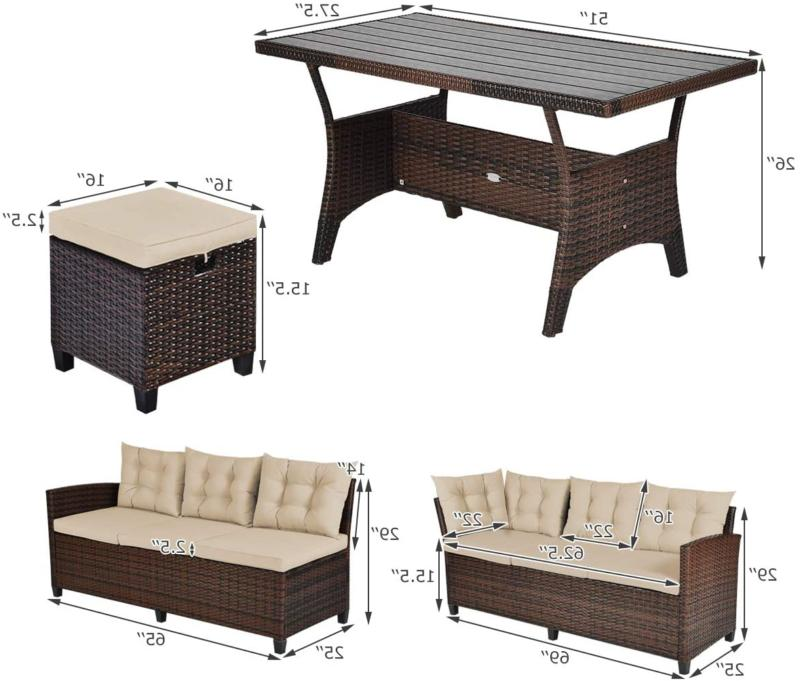 Tangkula Pcs Patio Furniture Set, Set With Se