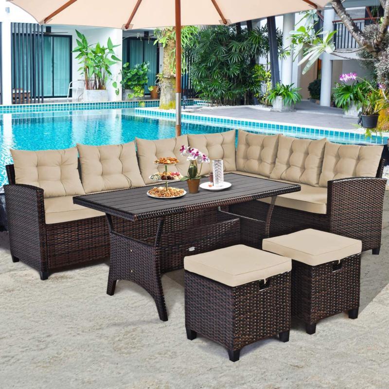 5 pcs patio furniture set outdoor conversation