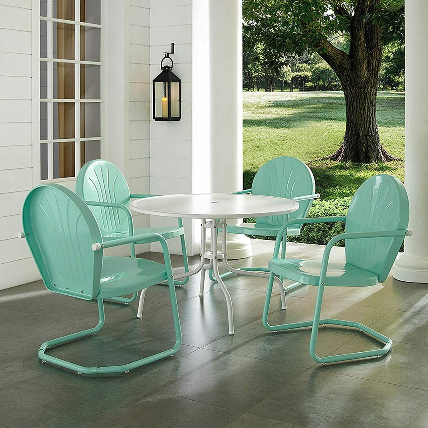 5 1-Table 4-Chairs Outdoor Patio