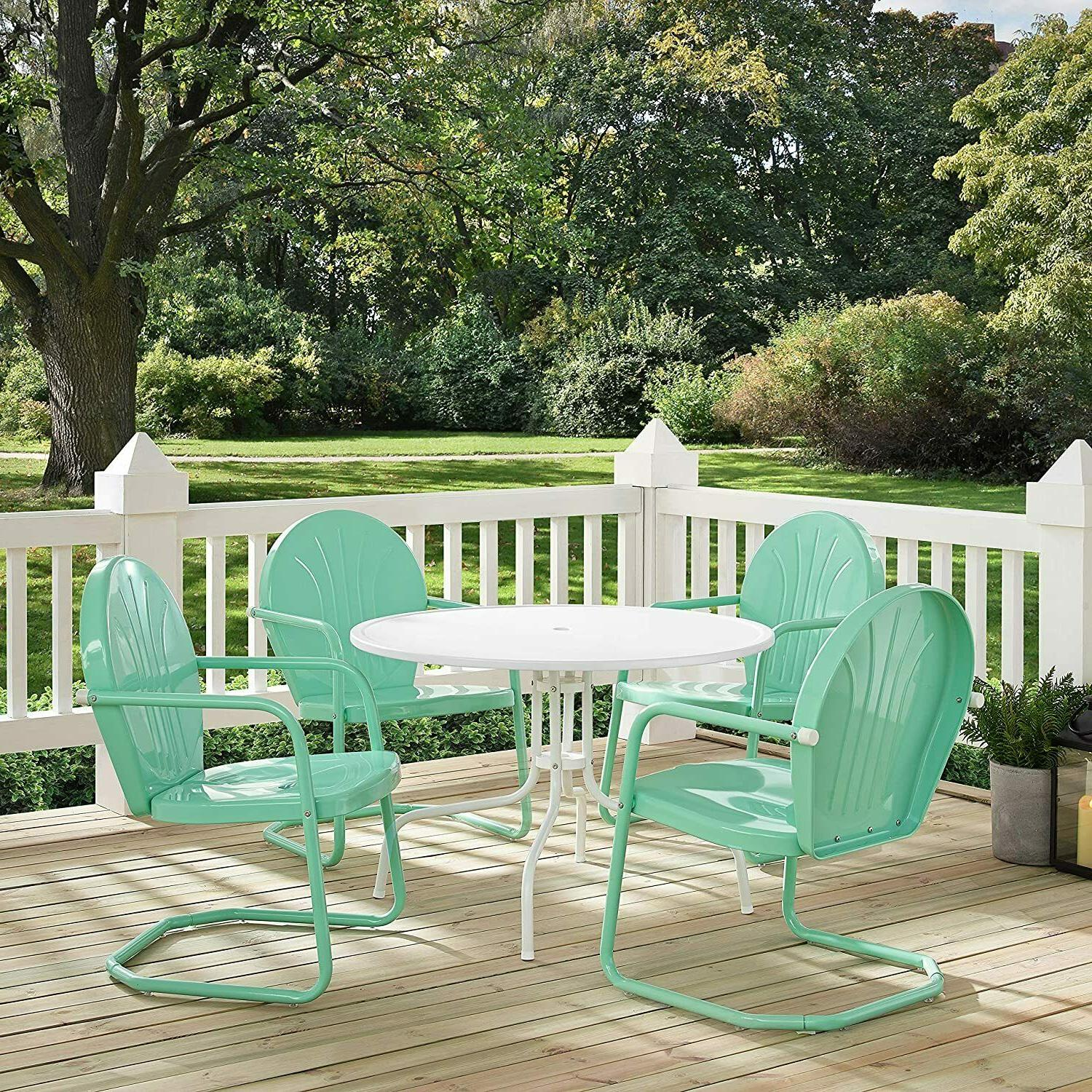 5 Piece Dining Set 1-Table 4-Chairs Patio Furniture