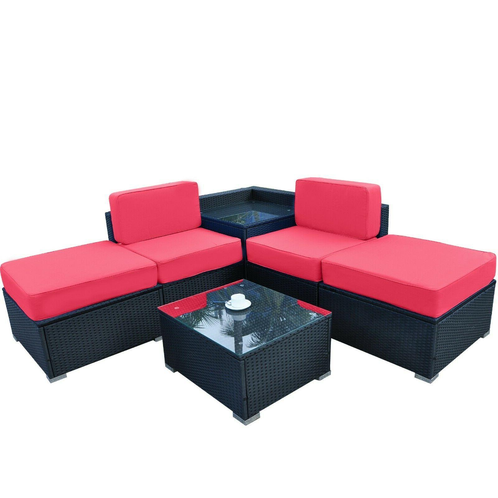 Mcombo Outdoor Wicker Rattan Sofa Sectional Furniture