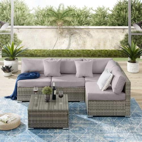 Furniture Set Outdoor Wicker Couch