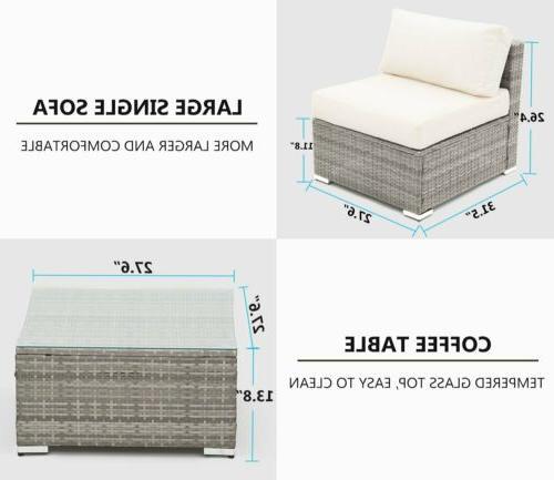 5 Wicker Sofa Rattan