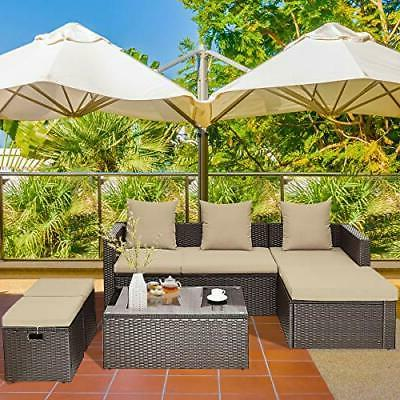 5PC Patio Set Outdoor Lounge
