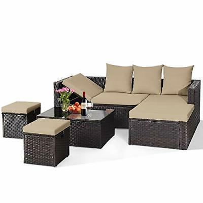 5PC Lounge Cushioned