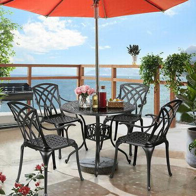 5PCS Dining Set Durable Hole Garden