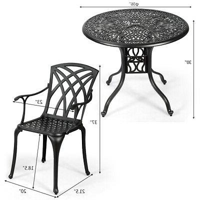 5PCS Cast Aluminum Dining Set Durable