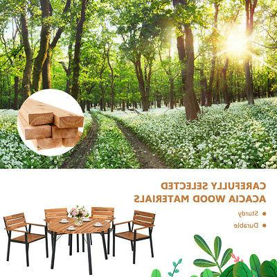 5PCS Outdoor Dining Furniture w/