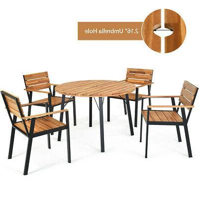 5PCS Outdoor Dining Set w/