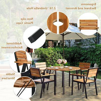 5PCS Dining Set Outdoor Dining Furniture Set w/
