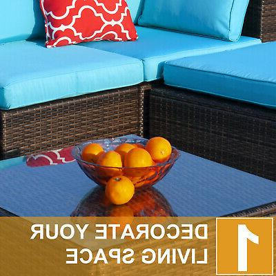 Polar 5pcs Furniture Wicker Sofa Set