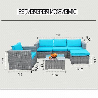 Polar Furniture Rattan Wicker Sectional Outdoor