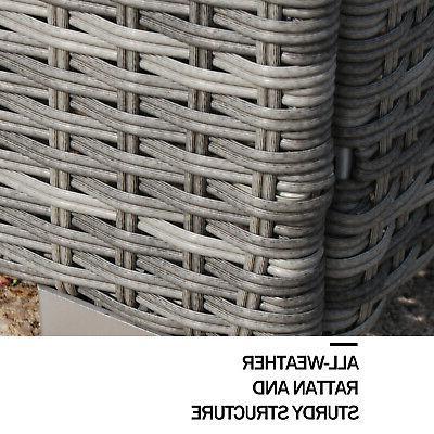 Polar Furniture Rattan Sectional Outdoor Set