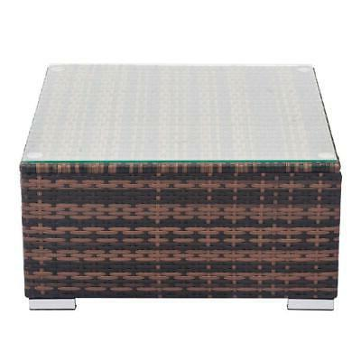 7PCS Wicker Rattan /w Cushions Sofa Sectional SHIP