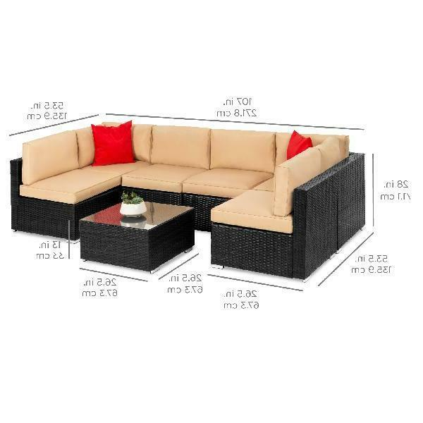 Best Products 7-Piece Modular Outdoor Set, Section