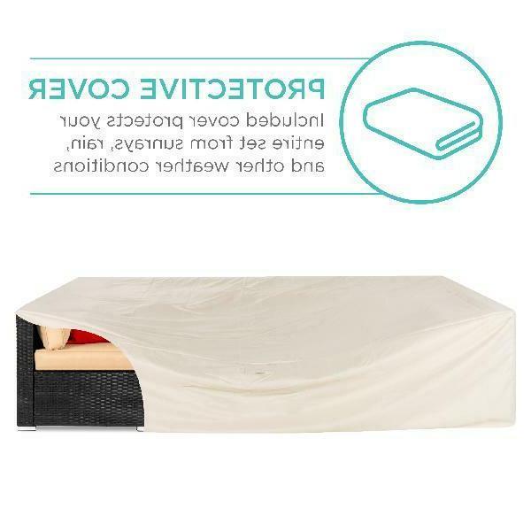 Best Choice 7-Piece Modular Patio Furniture Set, Wicker