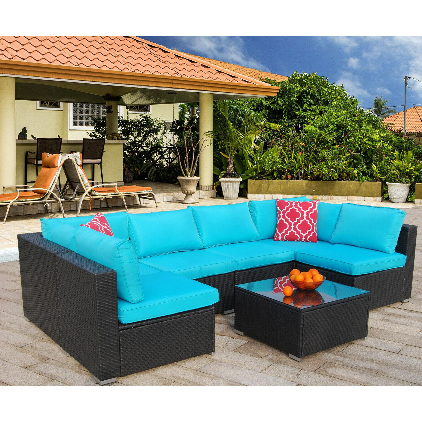 7 Patio Sofa Set Furniture