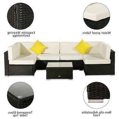 7 Sofa Set Cushioned Furniture