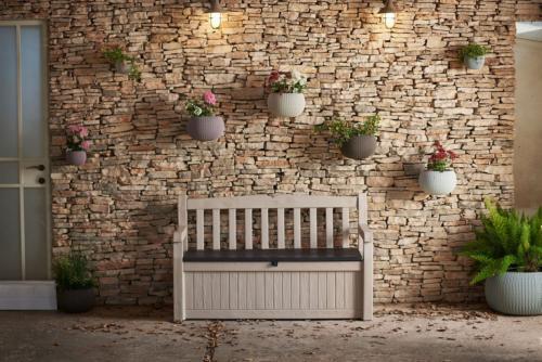 Keter 70-Gallon Storage Bench Chair Furniture