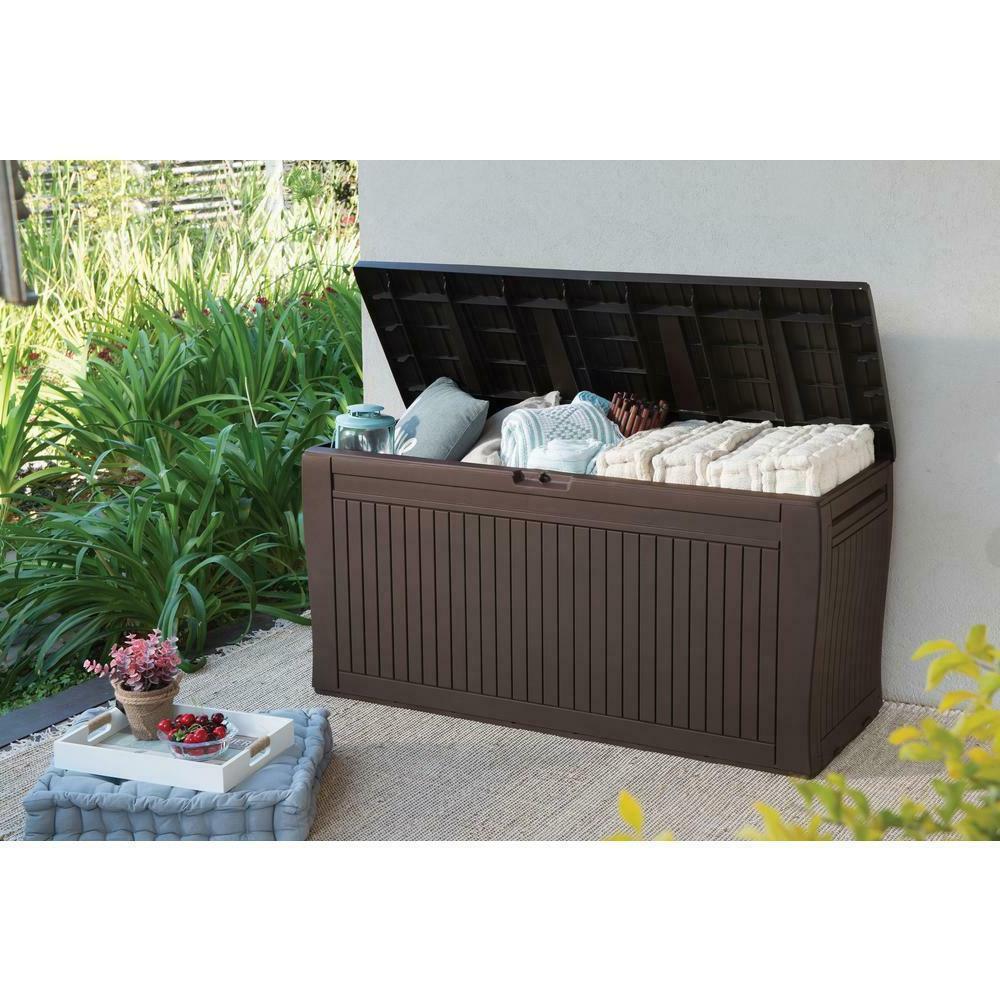 71 Bench Patio Box Garden Deck Yard Furniture Brown