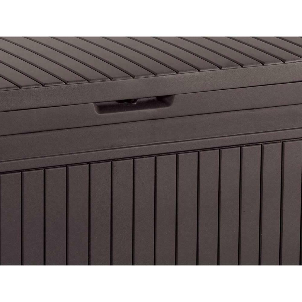 71 Gallon Bench Patio Garden Deck Yard Brown