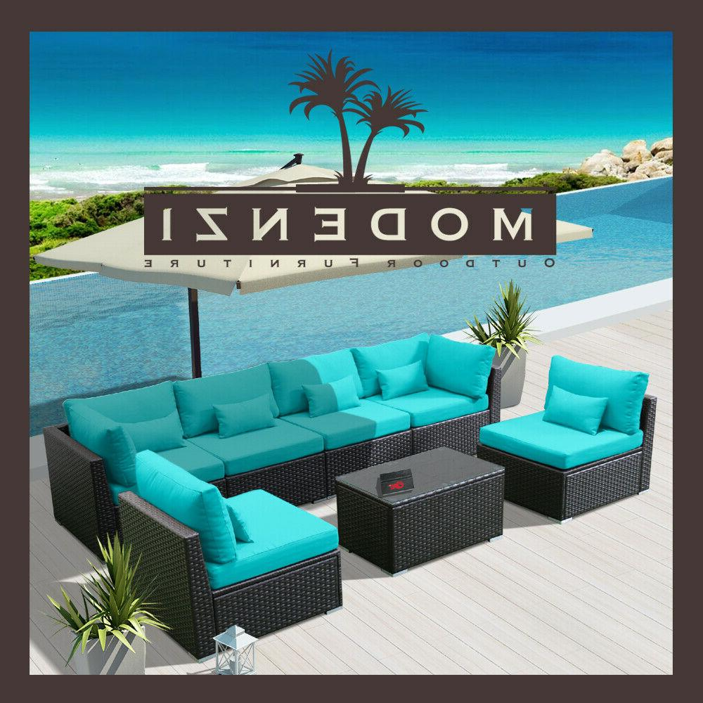 7g outdoor wicker rattan sectional patio furniture