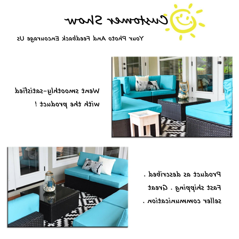 7PC Outdoor Patio Sofa Set PE