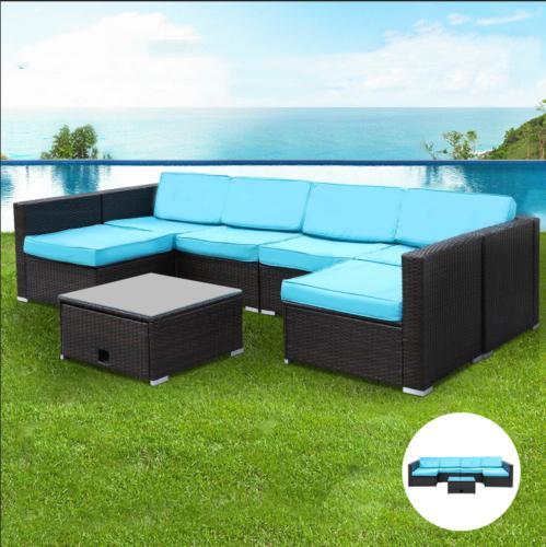 7pcs Furniture Sets PE Sofa