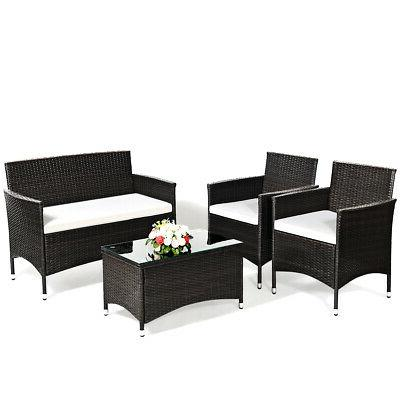 8 Set Sofa Brown Set