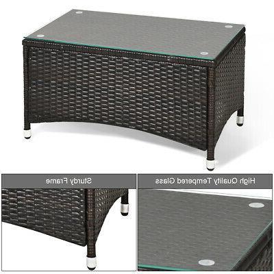 8 PCS Patio Set Table Sofa