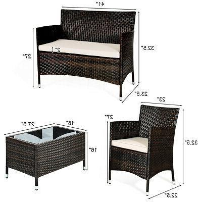 8-Piece Rattan Outdoor Chair
