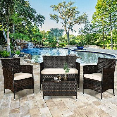 8-Piece Outdoor Chair Coffee Table