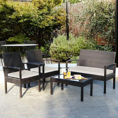 8 Table Cushioned Garden Furniture