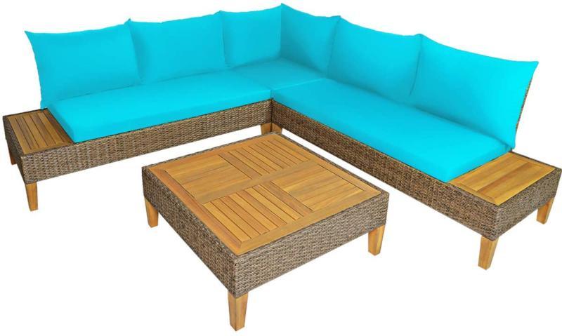 Tangkula 8Pcs Patio Furniture Set, Wicker