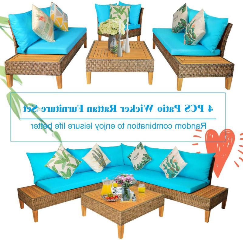 Patio Furniture Wicker Sofa
