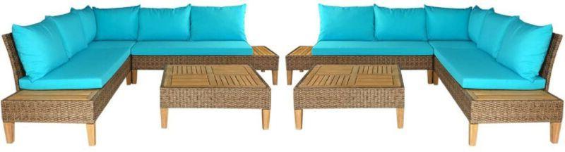 8pcs acacia wood patio furniture set outdoor
