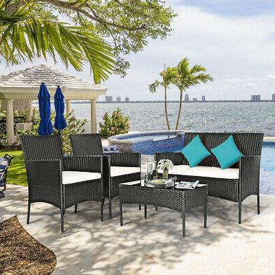 8PCS Furniture Set Table Porch