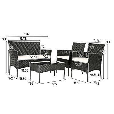 8PCS Set Sofa Table Backyard Porch