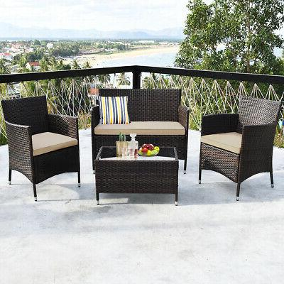 8PCS Set Cushioned Coffee Table