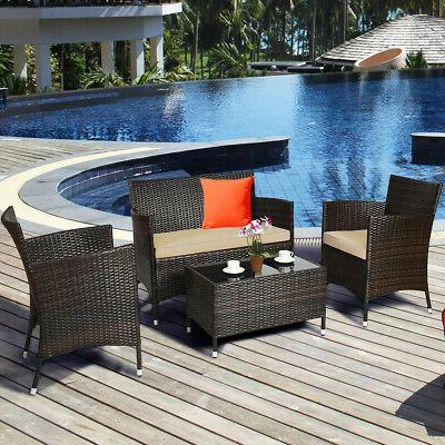 8PCS Rattan Set Sofa Outdoor