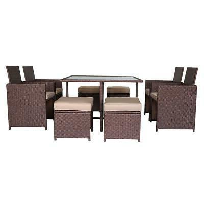 9PCS Furniture Sofa Dining Table