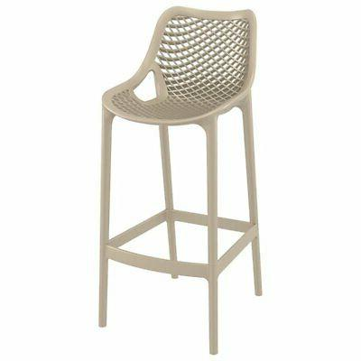 air patio bar stool in taupe