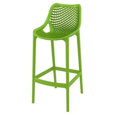 air patio bar stool in tropical green