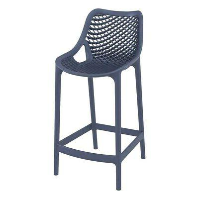 air patio counter stool in dark gray