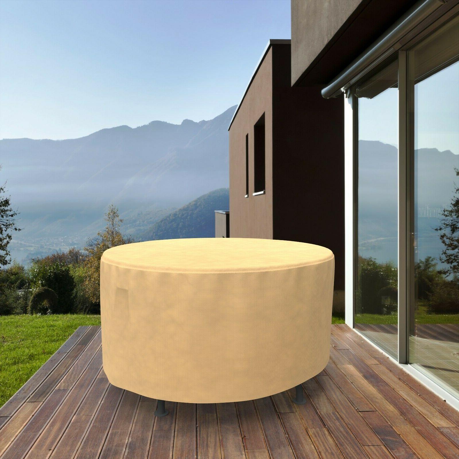 Patio Round Outdoor Rain UV Protection