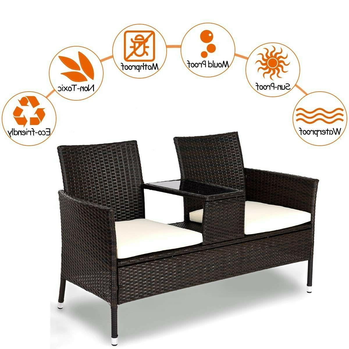 BRAND Tangkula Outdoor Furniture Patio Removable Cushions