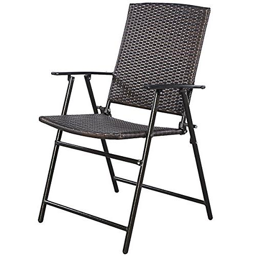 Tangkula 4 Chair with & Footrest Durable Steel Frame Commercial Party Chair Set